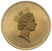 50 Cents - Elizabeth II (Grand Sumo Tournament) – obverse