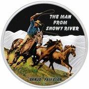 1 Dollar - Elizabeth II (The Man from Snowy River) -  obverse