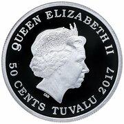 50 Cents - Elizabeth II (Horses) – obverse