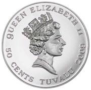 50 Cents - Elizabeth II (Moonlanding) – obverse