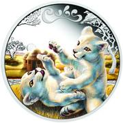50 Cents - Elizabeth II (White Lion Cubs) – reverse