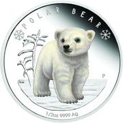 50 Cents - Elizabeth II (Polar Bear) – reverse