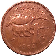 1 Cent - Elizabeth II (3rd portrait) -  reverse