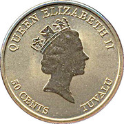 50 Cents - Elizabeth II (Grand Sumo Tournament) – obverse