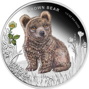 50 Cents - Elizabeth II (Brown Bear) – reverse
