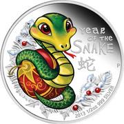 50 Cents - Elizabeth II (Baby Snake) – reverse