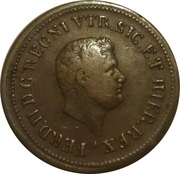 1½ Tornese - Ferdinando II – obverse
