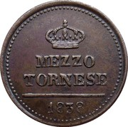 ½ Tornese - Ferdinand II – reverse