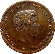 2 Tornesi - Ferdinando II (2nd portrait) – obverse
