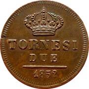 2 Tornesi - Ferdinando II (2nd portrait) – reverse