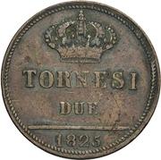 2 Tornesi - Francesco I – reverse