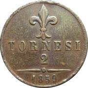2 Tornesi - Francesco II – reverse