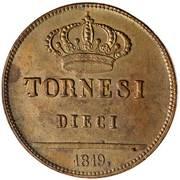 10 Tornesi - Ferdinando I – reverse