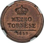 ½ Tornese - Ferdinando II – reverse