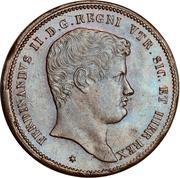 10 Tornesi - Ferdinando II (1st portrait) – obverse