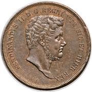 10 Tornesi - Ferdinando II (2nd portrait) – obverse