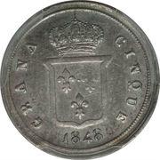 5 Grana - Ferdinando II – reverse
