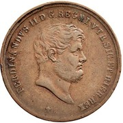 10 Tornesi - Ferdinando II (3rd portrait) – obverse