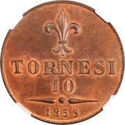 10 Tornesi - Francesco II – reverse