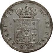 60 Grana - Ferdinando II (2nd portrait) – reverse
