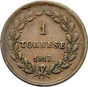 1 Tornese - Ferdinando I – reverse