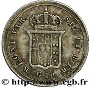 10 Grana -  Ferdinando II – reverse