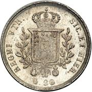 20 Grana - Francesco I – reverse
