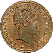 1 Tornese - Ferdinando II – obverse