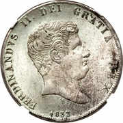 60 Grana - Ferdinando II (1st portrait) – obverse