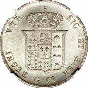60 Grana - Ferdinando II (1st portrait) – reverse