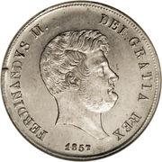 60 Grana - Ferdinando II (3rd portrait) – obverse