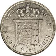 60 Grana - Ferdinando II (3rd portrait) – reverse