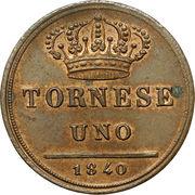 1 Tornese - Ferdinando II – reverse