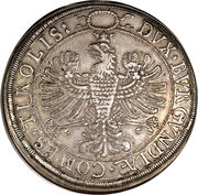 2 Thaler - Leopold V and Claudia Regency – reverse