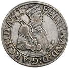 ½ Thaler - Ferdinand II of Tyrol – obverse