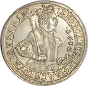1 Thaler - Leopold V (posthumous) – obverse