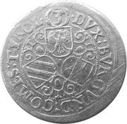 3 Kreuzer  - Leopold V Landesfürst of Tyrol (1626 -1632) – reverse