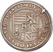 1 Guldenthaler - Ferdinand II of Tyrol (Mülhau) – reverse