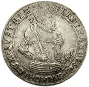 1 Thaler - Ferdinand II of Tyrol (Hall) – obverse