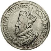 2 Thaler - Ferdinand II of Tyrol (posthumous; Hall) – obverse