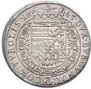 1 Thaler - Sigismund Franz – reverse