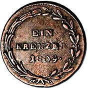 1 Kreuzer - Andreas Hofer – reverse
