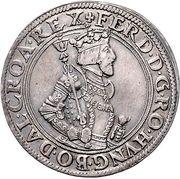 1 Thaler - Ferdinand I (posthume) Ferdinand II of Tyrol – obverse