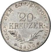 20 Kreuzer - Andreas Hofer – reverse