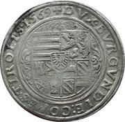 1 Guldenthaler - Ferdinand II of Tyrol – reverse