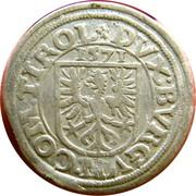 2 Kreuzer - Ferdinand II Erzherzog von Tyrol – reverse