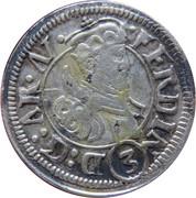 3 Kreuzer - Ferdinand II of Tyrol – obverse