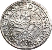 3 Kreuzer - Leopold V Landesfürst for Tyrol (1626 -1632) – reverse
