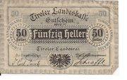 50 Heller (Tirol) – obverse
