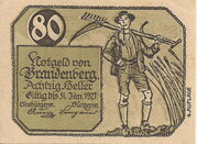 80 Heller (Brandenberg in Tirol) – obverse
